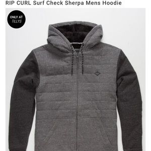 Rip Curl Surf Check Sherpa Men's Hoodie Sweatshirt